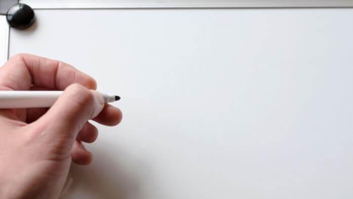 ホワイトボードの記入方法